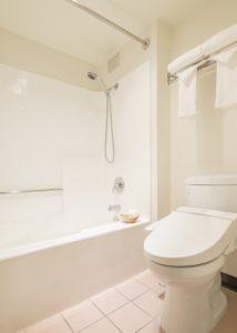Restroom & Bath with a washlet toilet