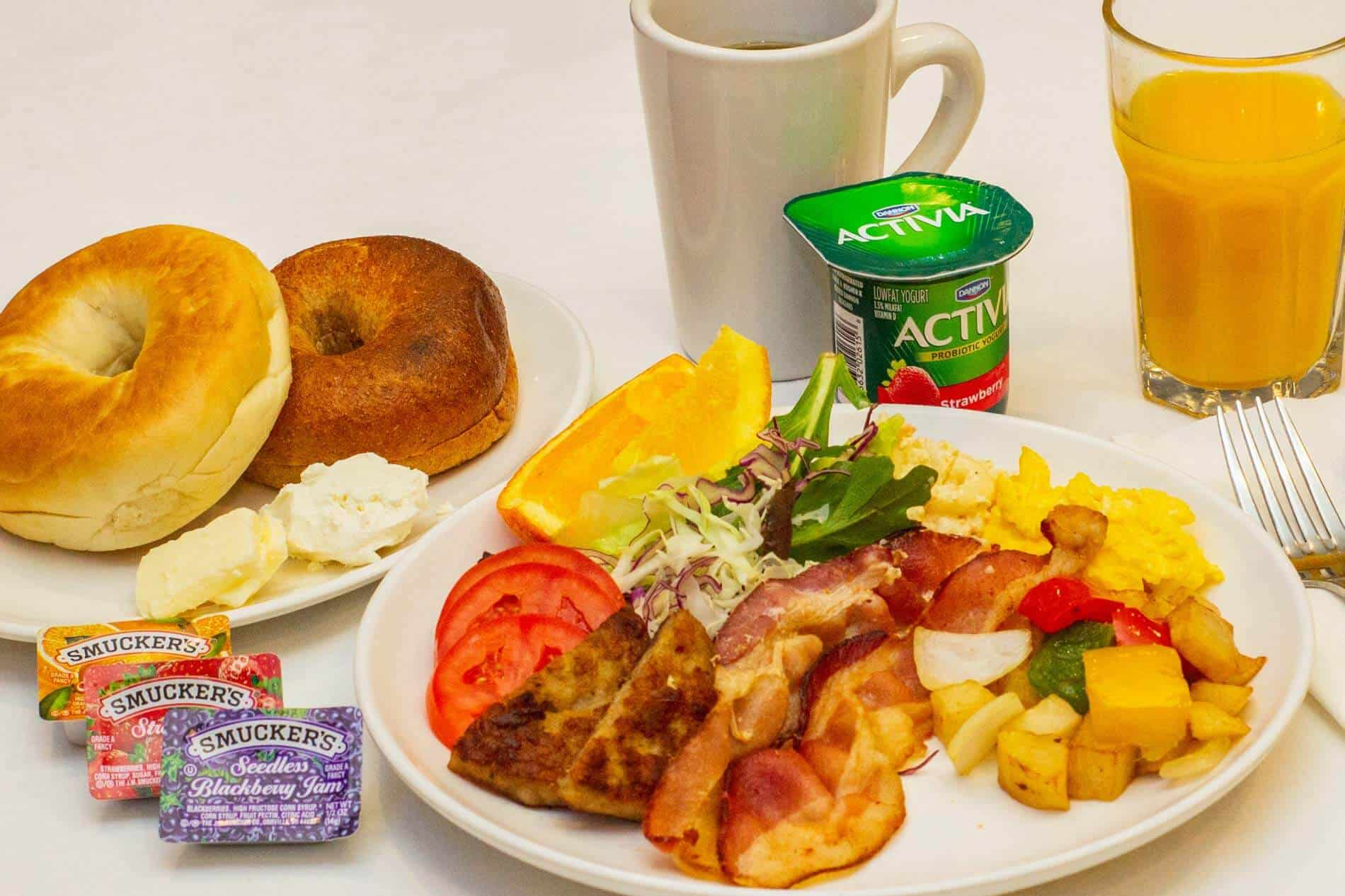 Our popular breakfast buffet available continetal and Japanese styles.