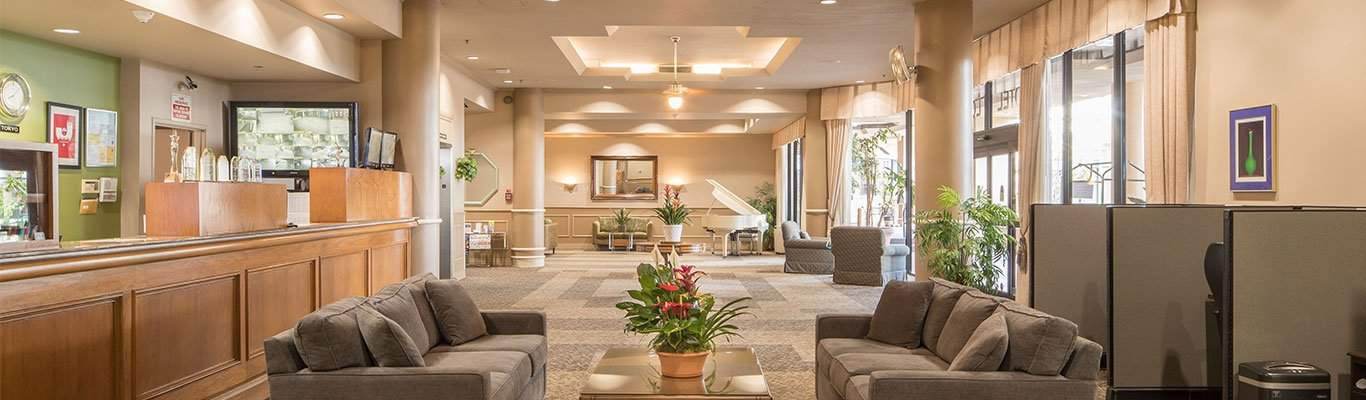 The Warmth and Comfort of Home - new gardena hotel relaxing lobby.