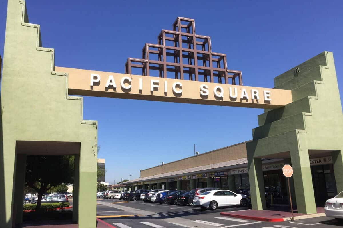 Pacific Square across from New Gardena Hotel