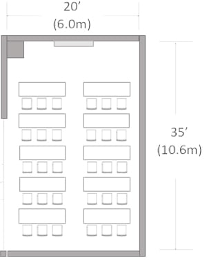 Medium Meeting Room Size Chart