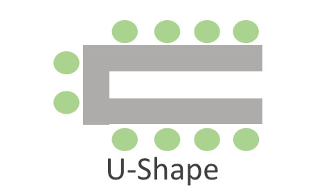 Meeting Room - U-Shape Setup Example